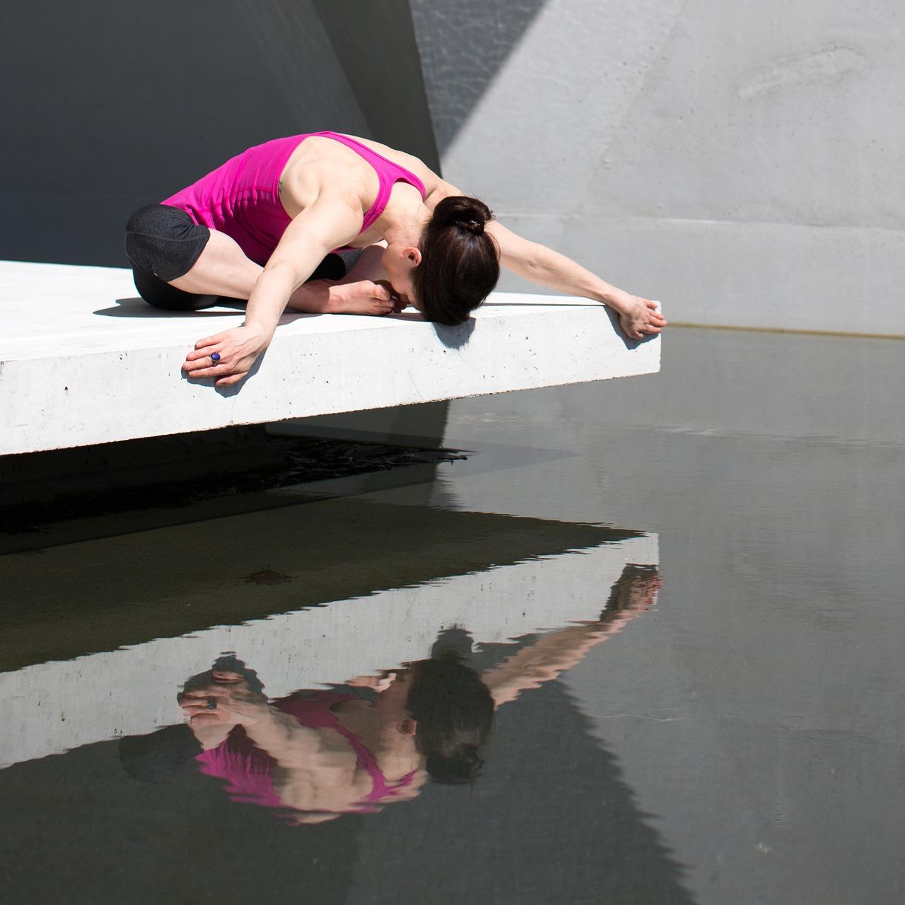 Yogapose Frau